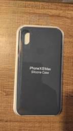 Capa original de silicone iPhone XS Max