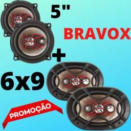 """KIT Bravox 6X9 + Falante 5"""" Novo Potente Muito Barato Aceitamos Cartão!"""