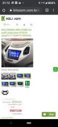 Multimídia 2 Din Ford Ka 2018 á 2020