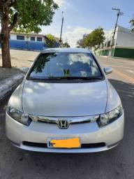 Vendo Troco Honda Civic Lxs manual completo ano 2007 com Kit multi mídia dvd