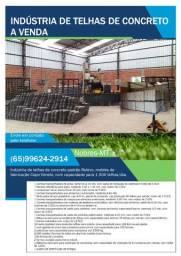 Indústria de telhas de concreto à venda