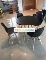 Título do anúncio: Jogos quadrado e redondo Eiffel mesa + 4 cadeiras