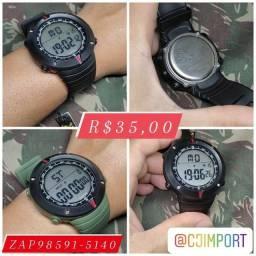 relógio militar original 35 reais aprova d'água