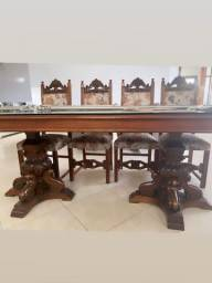 Título do anúncio: Mesa madeira maciça