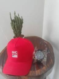 Kit boné + relógio