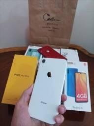 Título do anúncio: iPhone XR 64GB White de Vitrine Bateria 100%