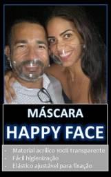 Máscara transparente happy face original