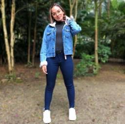 Jaqueta blogueirinha 100% jeans