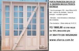 porta francesa semi pivotante 200 210 completa