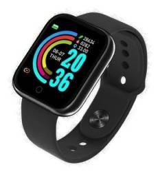 Smartwatch Smart Bracelet D20 1 1.3 Caixa De Plástico Preta Pulseira Preta De Silicone