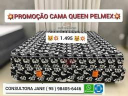 Cama Queen Pelmex Promoção até acabar o estoque, frete grátis