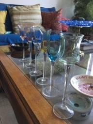 Conjunto de taças de licor em cristal