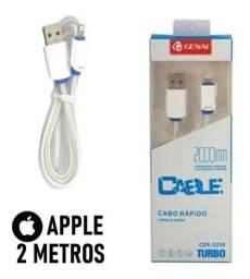 Título do anúncio: Cabo iPhone lightning Genai para carregamento turbo  2m