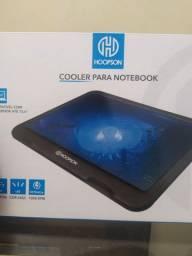 [NoVo] Suporte para Notebook com cooler 120mm e LED Azul
