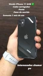 IPhone 64G 1 mês de uso!!!!! Com todos acessórios