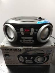Rádio portátil nbx-13 Mondial, Cd, USB, auxiliar, Fm