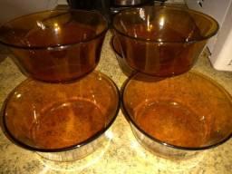 6 taças de sobremesa