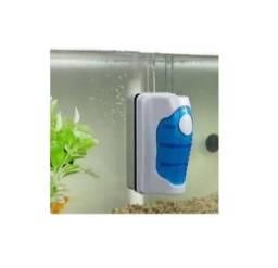 Limpador Magnético Limpa Vidro Aquário 8mm Flutuante Escova