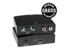 Adaptador conversor vga para Hdmi com áudio - entrega grátis