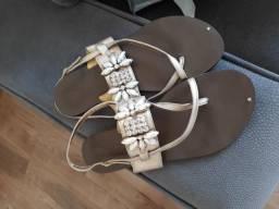 Sandália rasteirinha n39