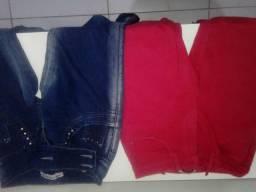 Duas calças pelo preço de uma