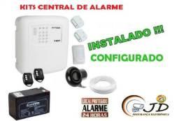 Alarme Central de Alarme, Kit com Instalação e configuração grátis.casa,loja,ap,galpão,etc