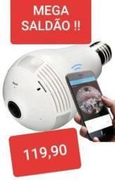 Câmera Lâmpada WiFi Panorâmica - Fazemos Entregas