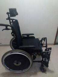 6522404bc Cadeira De Rodas Reclinável Avd Alumínio Ortobras Dobrável X Com Apoio De  Cabeça
