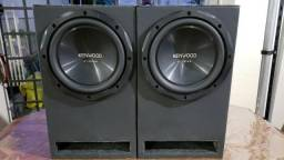 Caixas subwoofer Kenwood 300W RMS