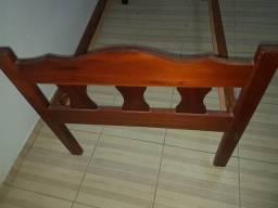 Cama solteiro de madeira bruta de qualidade