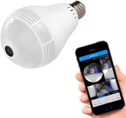 Câmera Espiã IP Lampada Wi-Fi Panorâmica LED 360 Bivolt C/Infravermelho JK-01