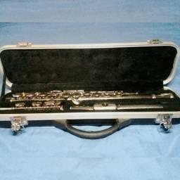 "Flauta Transversal Benson BFT-1N Niquelada em ""C"""
