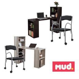 Combo Home Office Cadeira + Mesa Bancada Escritório
