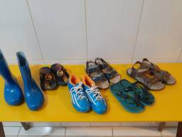 Lote c 6 calçados p menino tamanho 29, 30, 31