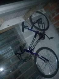 Bicicleta com marcha uma barbada