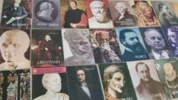 """Encartes da coleção HISTÓRICA """"Os Pensadores"""", excelente conservação!!!"""