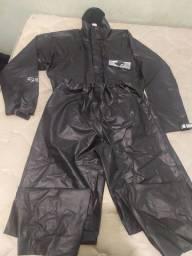 Capa de chuva motoqueiro