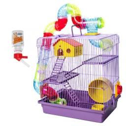 Gaiola para Hamster com Tubos Três Andares Completa