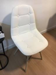Cadeira Estofada Branca Nova Impecável
