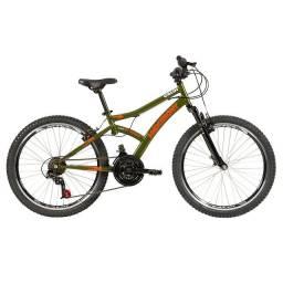 Bicicleta Caloi Max Front Aro 24 com Freio V-Brake e 21 Marchas - Verde <br><br>
