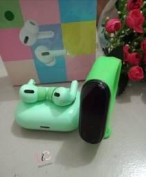 Fone de ouvido airdots + smartband m5
