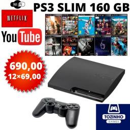 Título do anúncio: Playstation 3 Slim (12×No Cartão)Loja Física
