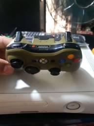 Controle Xbox  360 original edição  halo leia