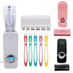 Dispenser para pasta de dente com suporte de escovas