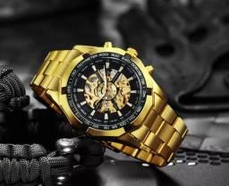 Relógio masculino mecânico, automático marca de luxo, original a pronta entrega.<br>