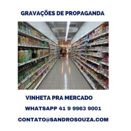 Voz de propaganda pra comércio