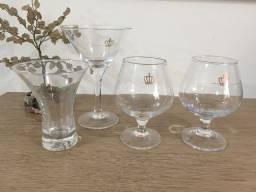 Taças de vidro da Coleçao Caras