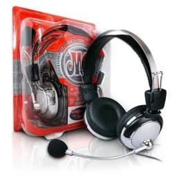 Fone de ouvido com microfone Johnystar JS-301MV
