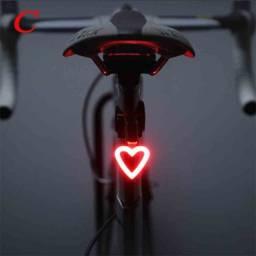 Título do anúncio: Luz de sinalização para Bike recarregável com formatos diferentes