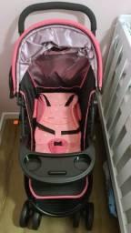 Título do anúncio: Carrinho De Bebê Cosco Travel System Nexus Rosa - Até 15 Kg